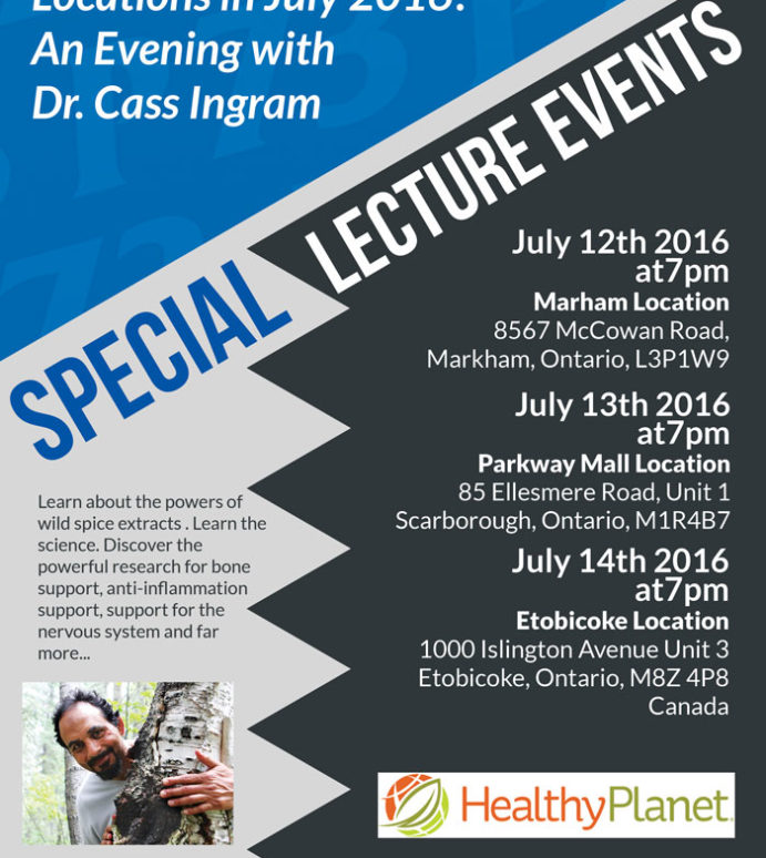 Toronto July Lectures and info